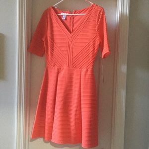 Size 8. Pink/Orange Dress. New with Tags